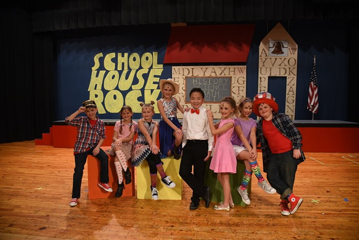 Some of the cast of SchoolHouse Rock Jr.